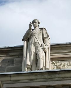 Estátua de Immanuel Kant no Palais Universitaire de Estrasburgo (França)