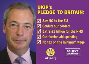 Nigel Farage em campanha pelo Brexit