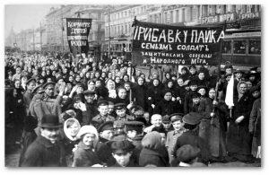 Marcha das operárias russas no dia 8 de março de 1917