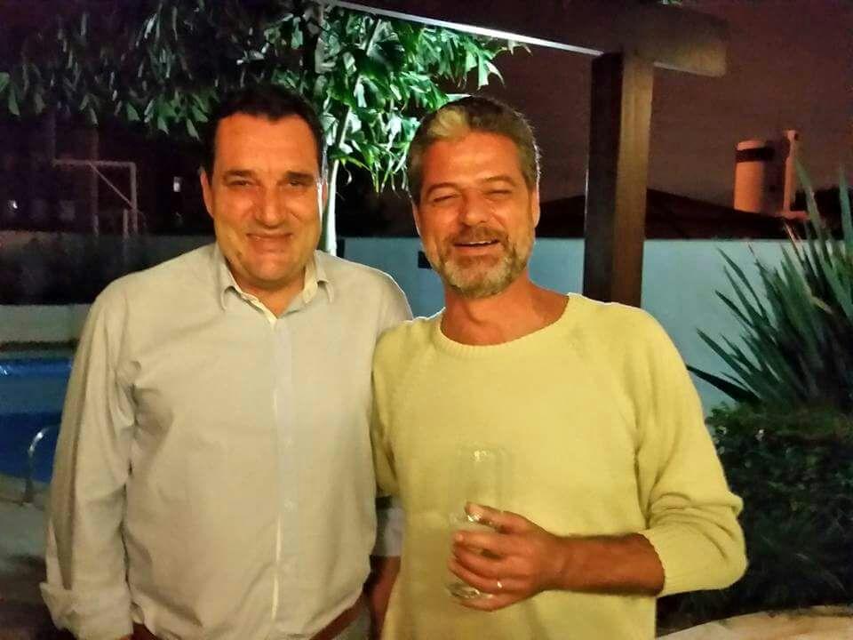 Luiz Carlos Cancellier (esq) e Aureo de Moraes