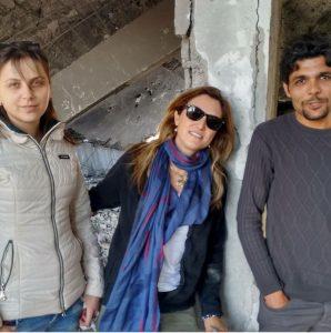 Raushan, Patrícia e Barzan