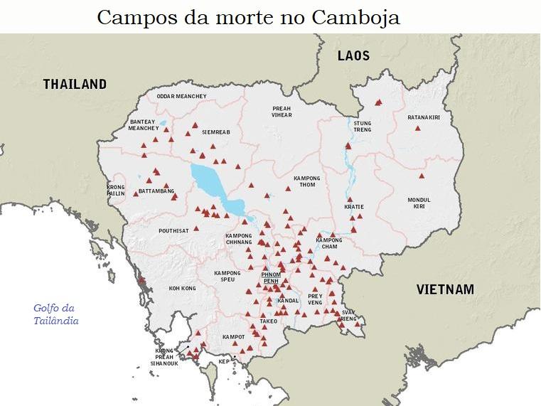 Campos de morte servindo ao genocídio de Pol Pot