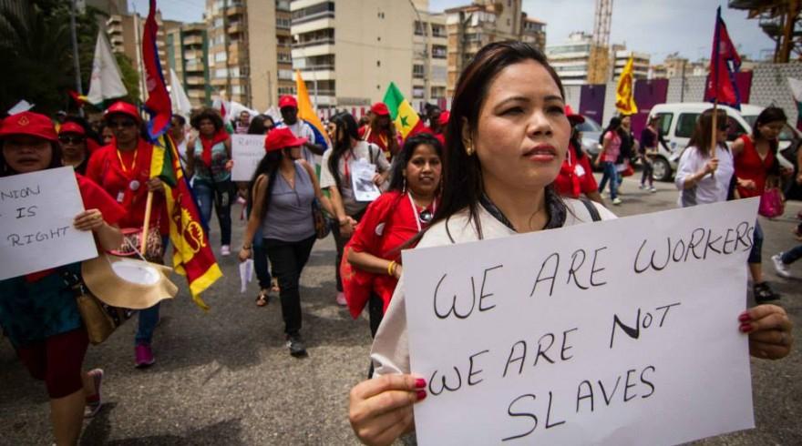 Manifestação de empregadas domésticas