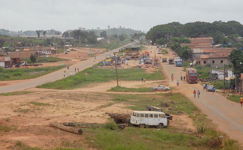 Cidade de Anapu, uma das muitas nascidas a partir da abertura da Transamazônica. Em tese a rodovia levaria progresso e modernidade para a Amazônia brasileira