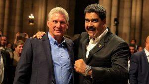 Nicolás Maduro e Miguel Díaz-Canel, o atual presidente cubano