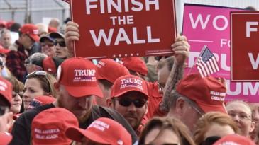 Comício de Donald Trump em Macon (Georgia), em novembro de 2018