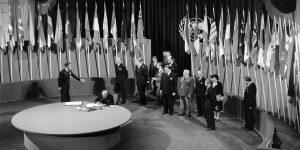 Assinatura da Carta da ONU, São Francisco, 26 de junho de 1945