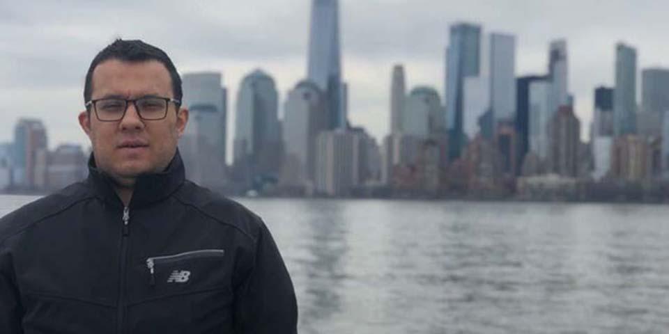 Ali Sipahi em Nova York, pouco antes de sua prisão no Brasil