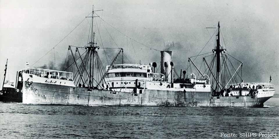 O navio Persier, construído em Newcastle (Reino Unido), em 1918, foi afundado por um submarino alemão em 1945, em Eddystone, no sul da Inglaterra.