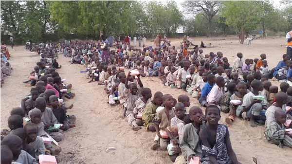 Campo de deslocados Konduga, em Maiduguri, no nordeste nigeriano, em 2015