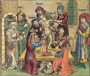 """As acusações de assassinato ritual eram frequentes, e as mortes súbitas de bebês não raro eram atribuídas a bruxarias judias. Os conhecimentos médicos eram assustadores na """"Idade das Trevas"""" e renderam um novo tipo de acusação: aquela feita não contra uma pessoa, mas contra uma coletividade."""