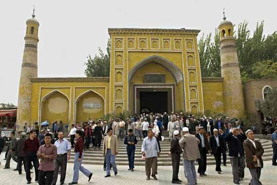 Mesquita de Id Kah, no centro antigo de Kashgar, que escapou às demolições