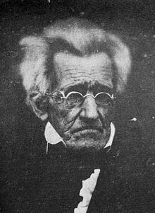 Andrew Jackson foi presidente entre 1829 e 1837. Na foto, aos 78 ano