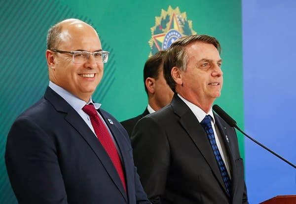 Wilson Witzel com o presidente Jair Bolsonaro