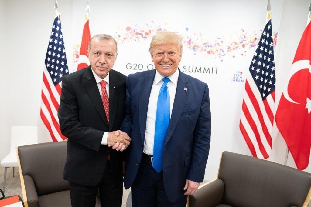 Recep Erdogan com Donald Trump