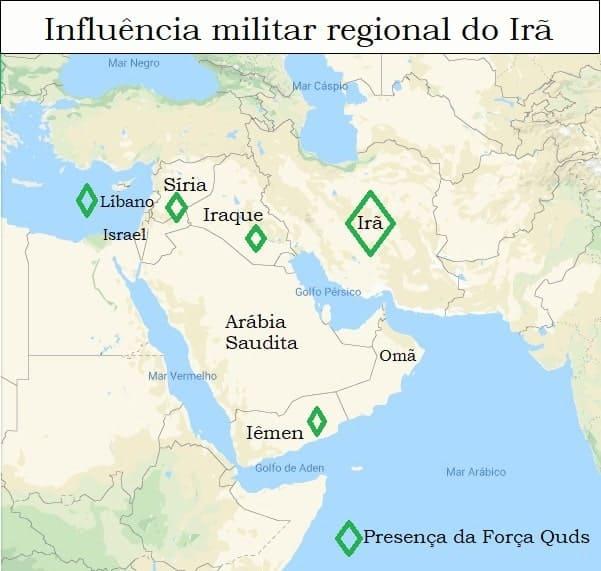 Influência militar regional do Irã