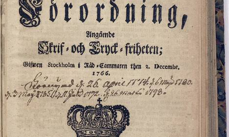 Lei sueca de liberdade de imprensa