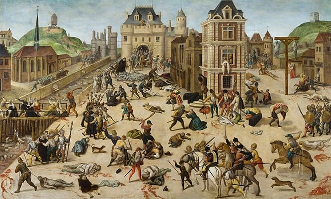 O massacre da noite de S. Bartolomeu