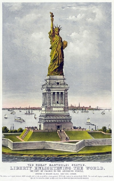 Postal - Estátua da Liberdade