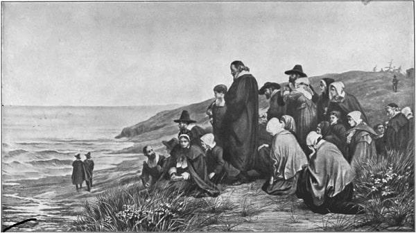 Gravura-pais peregrinos
