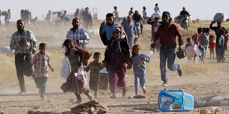 Refugiados em fuga