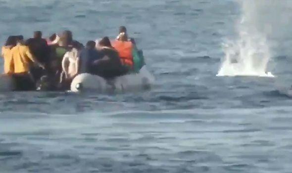 Refugiados sírios no Egeu