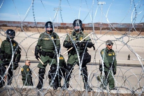 Patrulha da Fronteira militarizada