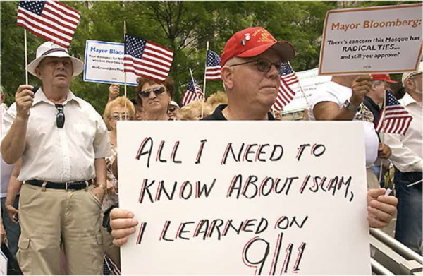 Cartaz anti-islâmico