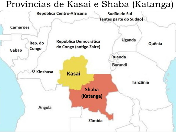 Mapa-Kasai e Katanga (Shaba)