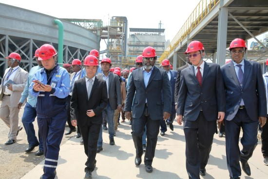 Kabila visita Sicomines
