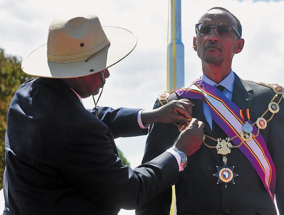 Kagame e Mouseveni