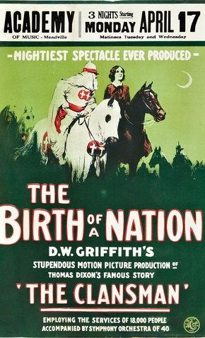 Cartaz do filme Nasscimento de uma nação