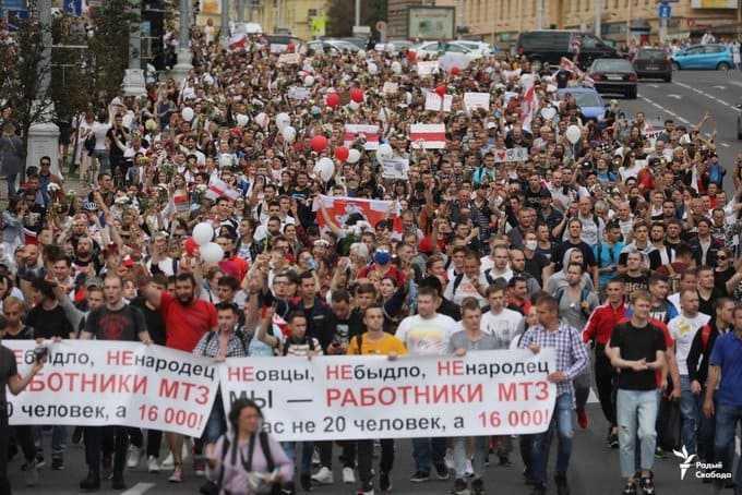 Silêncio rompido na Belarus