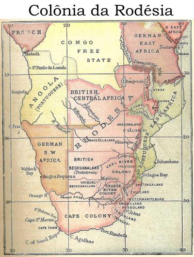mapa Rodésia