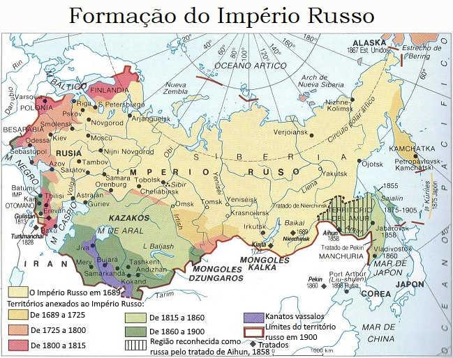 Mapa Formação do Imperio