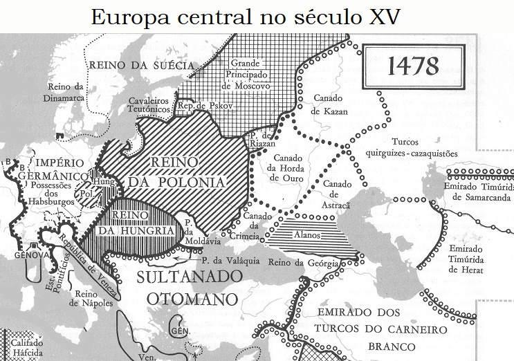 Mapa sec XV