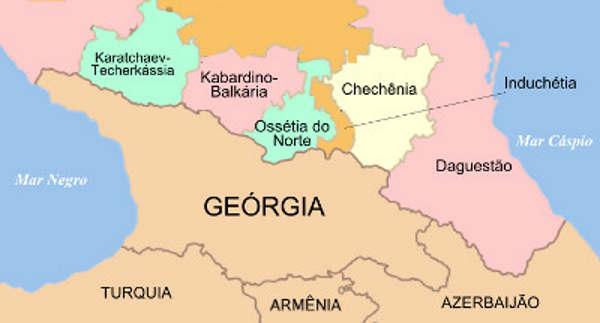 Mapa Chechênia