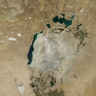Mar de Aral reduzido
